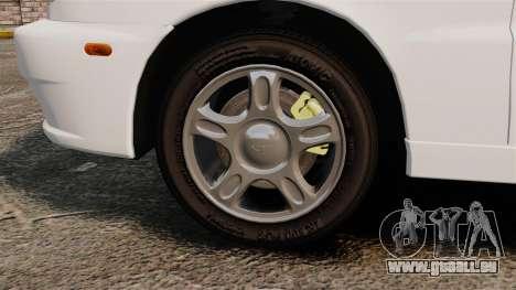 Daewoo Lanos 1997 Cabriolet Concept für GTA 4 Rückansicht