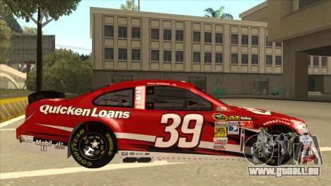 Chevrolet SS NASCAR No. 39 Quicken Loans für GTA San Andreas zurück linke Ansicht