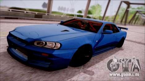 Nissan Skyline GT-R R34 für GTA San Andreas