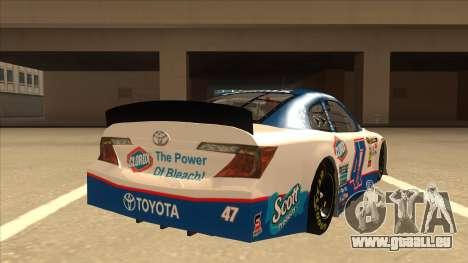 Toyota Camry NASCAR No. 47 Clorox für GTA San Andreas rechten Ansicht