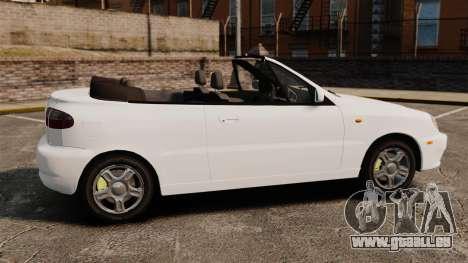 Daewoo Lanos 1997 Cabriolet Concept pour GTA 4 est une gauche