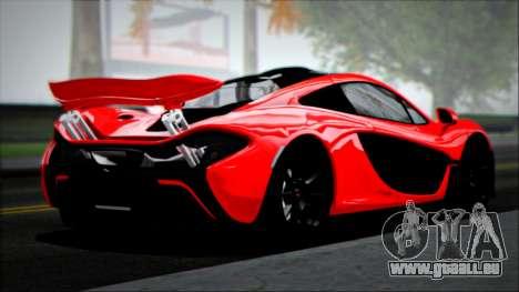 McLaren P1 2014 pour GTA San Andreas laissé vue