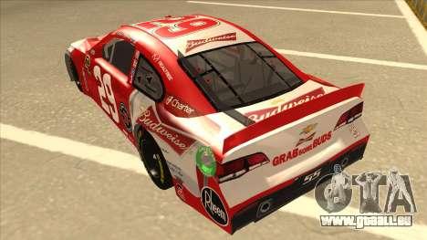 Chevrolet SS NASCAR No. 29 Budweiser für GTA San Andreas Rückansicht