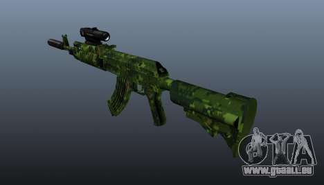 AK-74 en tenue de camouflage pour GTA 4 secondes d'écran