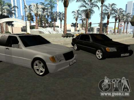 Mercedes-Benz W140 S600 pour GTA San Andreas laissé vue