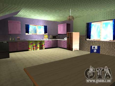 Innen 2-stöckige Neubau CJ für GTA San Andreas achten Screenshot