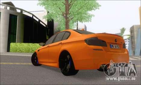 BMW M5 Vossen pour GTA San Andreas sur la vue arrière gauche