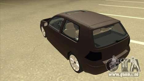 VW Golf 4 Tuned pour GTA San Andreas vue arrière