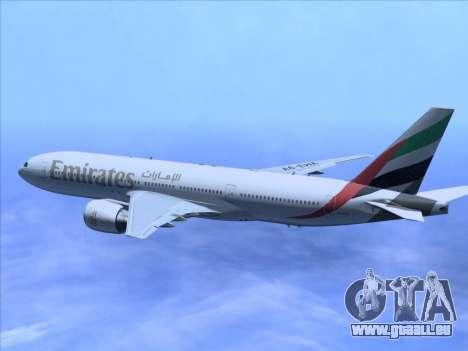 Boeing 777-21HLR Emirates pour GTA San Andreas vue de côté