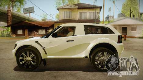 Bowler EXR S 2012 HQLM pour GTA San Andreas laissé vue