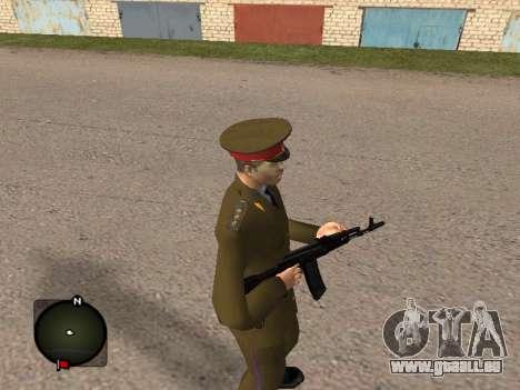 Major général de l'armée russe pour GTA San Andreas deuxième écran