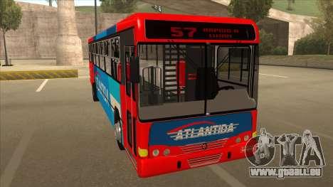 Marcopolo Torino G6 Linea 57 Atlantida pour GTA San Andreas laissé vue