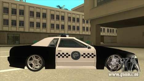 Elegy Police pour GTA San Andreas sur la vue arrière gauche