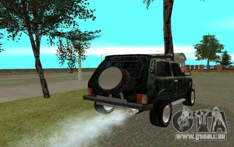 VAZ 21213 für GTA San Andreas zurück linke Ansicht