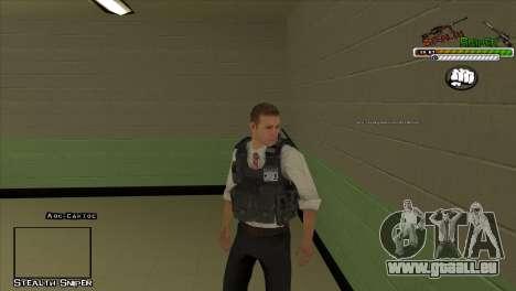 Peaux SAPD Pak pour GTA San Andreas cinquième écran