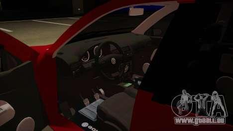 VW Golf GTI 2008 pour GTA San Andreas vue intérieure