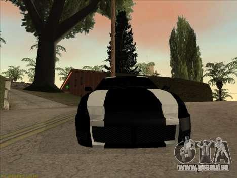 New Jester pour GTA San Andreas sur la vue arrière gauche