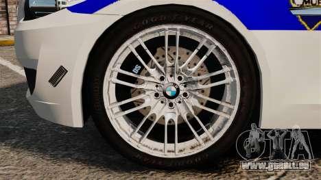 BMW M5 Croatian Police [ELS] für GTA 4 Rückansicht