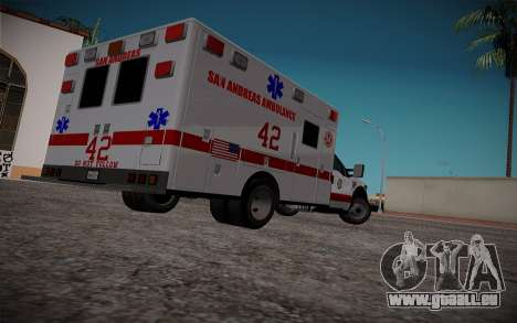 Ford F350 Super Duty San Andreas Emerency Medica für GTA San Andreas zurück linke Ansicht