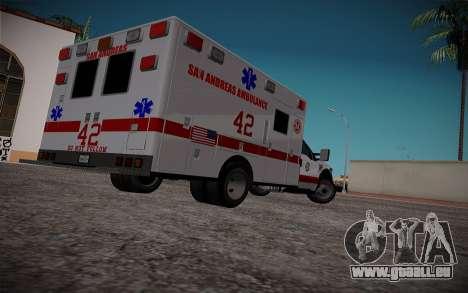 Ford F350 Super Duty San Andreas Emerency Medica pour GTA San Andreas sur la vue arrière gauche