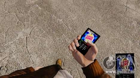 Thèmes pour les marques de Fast-Food téléphones pour GTA 4
