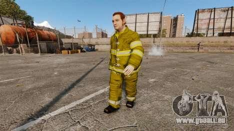 Gelbe Uniformen für Feuerwehrleute für GTA 4