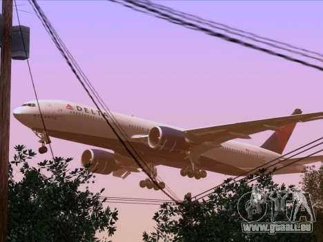 Boeing 777-200ER Delta Air Lines pour GTA San Andreas vue de dessous