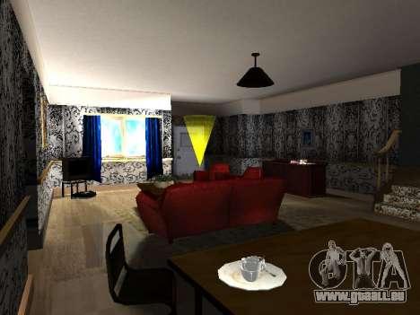 Nouveau bâtiment de 2 étages intérieur CJ pour GTA San Andreas quatrième écran