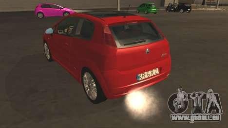 Fiat Grande Punto pour GTA San Andreas vue de dessus