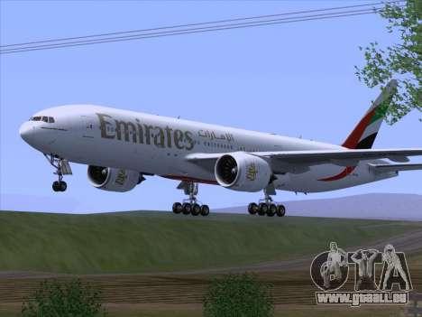 Boeing 777-21HLR Emirates pour GTA San Andreas vue de droite