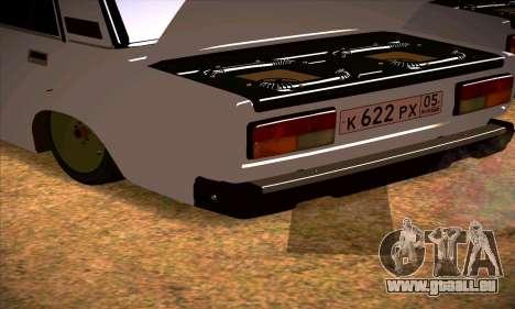 VAZ 2107 (05) pour GTA San Andreas vue de droite