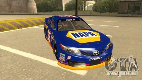 Toyota Camry NASCAR No. 56 NAPA pour GTA San Andreas laissé vue
