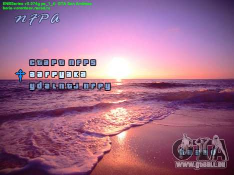 Nouveau menu pour GTA San Andreas deuxième écran