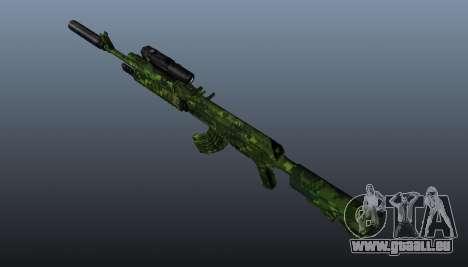 AK-74 en tenue de camouflage pour GTA 4 troisième écran