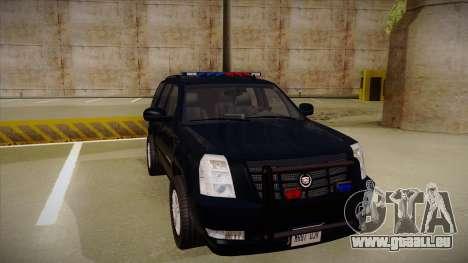 Cadillac Escalade 2011 FBI pour GTA San Andreas laissé vue