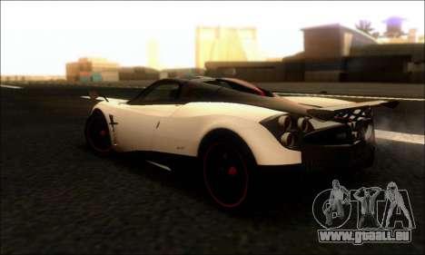 Pagani Huayra Cinque pour GTA San Andreas sur la vue arrière gauche