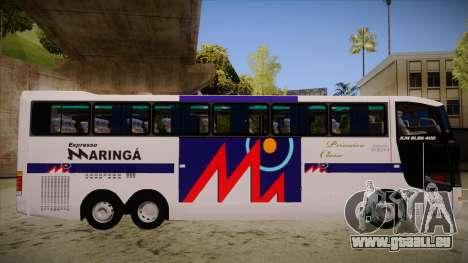 Busscar Jum Buss 400 P Volvo für GTA San Andreas zurück linke Ansicht