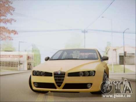 Alfa Romeo 159 Sedan pour GTA San Andreas sur la vue arrière gauche