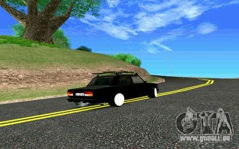 VAZ 2107 Riva pour GTA San Andreas vue arrière