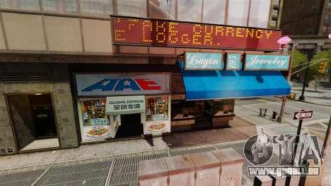 Magasins réels pour GTA 4 troisième écran