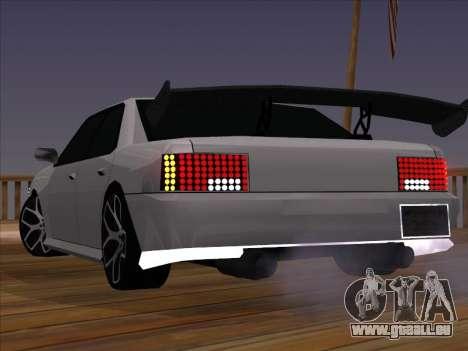 New Sultan pour GTA San Andreas sur la vue arrière gauche