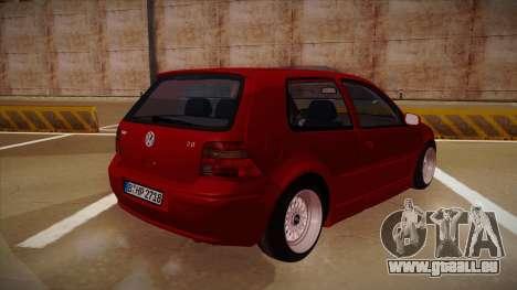 Volkswagen Golf Mk4 Euro pour GTA San Andreas vue de droite