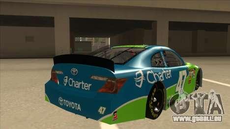 Toyota Camry NASCAR No. 47 Charter pour GTA San Andreas vue de droite