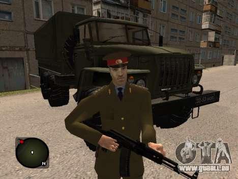 Major général de l'armée russe pour GTA San Andreas