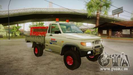 UAZ 2360 Reparatur Wasser SA für GTA San Andreas Rückansicht