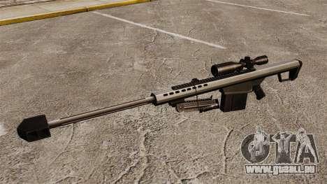 Das Barrett M82 Sniper Gewehr v1 für GTA 4 dritte Screenshot
