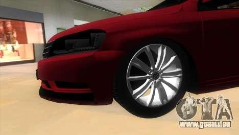 Volkswagen Passat B7 2012 pour une vue GTA Vice City de la droite
