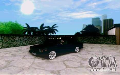 VAZ 2107 Riva pour GTA San Andreas sur la vue arrière gauche