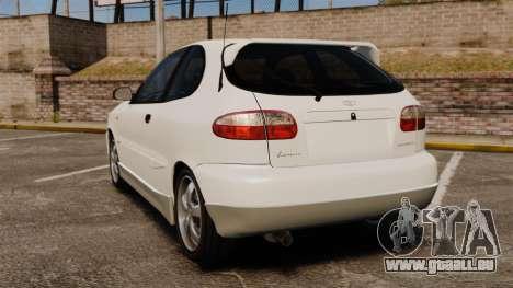 Daewoo Lanos GTI 1999 Concept pour GTA 4 Vue arrière de la gauche