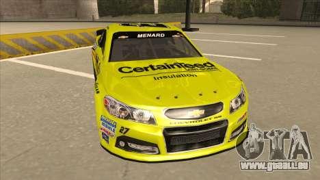 Chevrolet SS NASCAR No. 27 Menards pour GTA San Andreas laissé vue